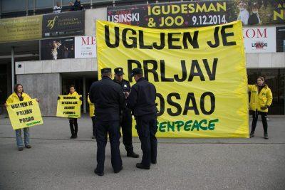 Prosvjed protiv ugljena (foto Greenpeace)