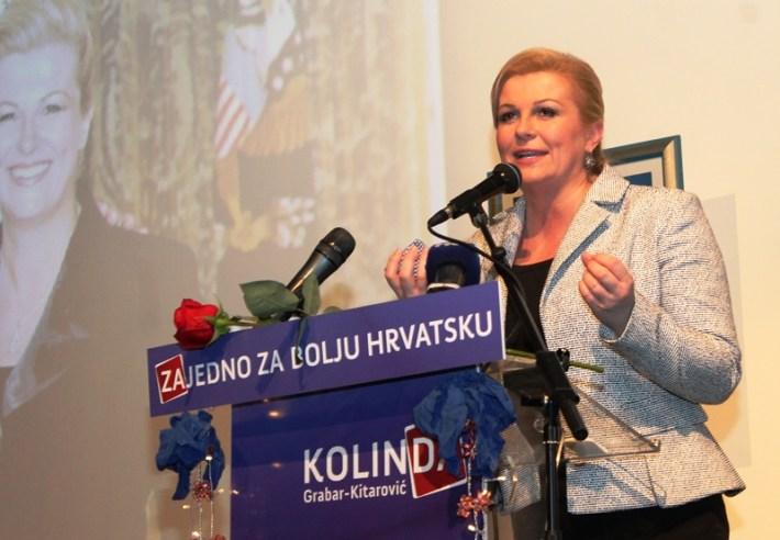 Kolinda Grabar Kitarović - predizborni skup u Šibeniku (15)