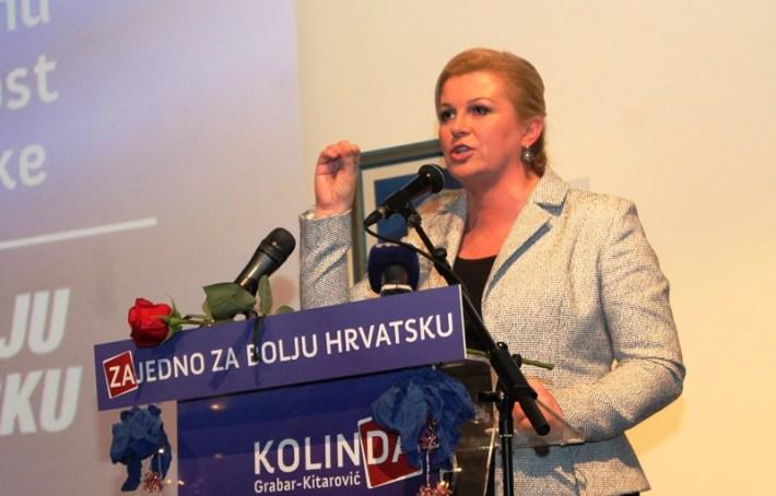 Kolinda Grabar Kitarović - predizborni skup u Šibeniku (6)