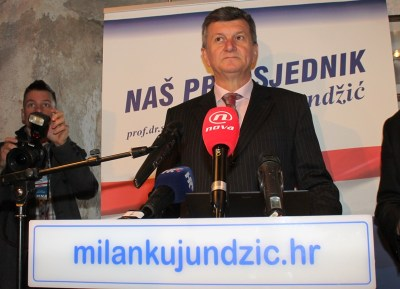 Milan Kujundžić iz vremena kad se kandidirao za predsjednika RH (foto TRIS/H. Pavić)