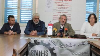 Drago Škrlin, Ivan Svraka, Vedran Dragičević i Dalibor Živković na konferenciji za novinare HSM-a  (Foto  H. Pavić)
