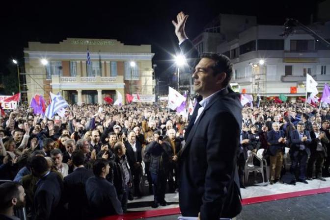 Tsipras, u vrijeme kad je slavio pobjedu Syrize na izborima (foto Facebook)