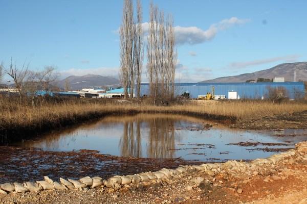 Najveći dio mazut iz lagune kišom i izlijevanjem Orašnice davno je otišao nizvodno... (Foto: H. Pavić)