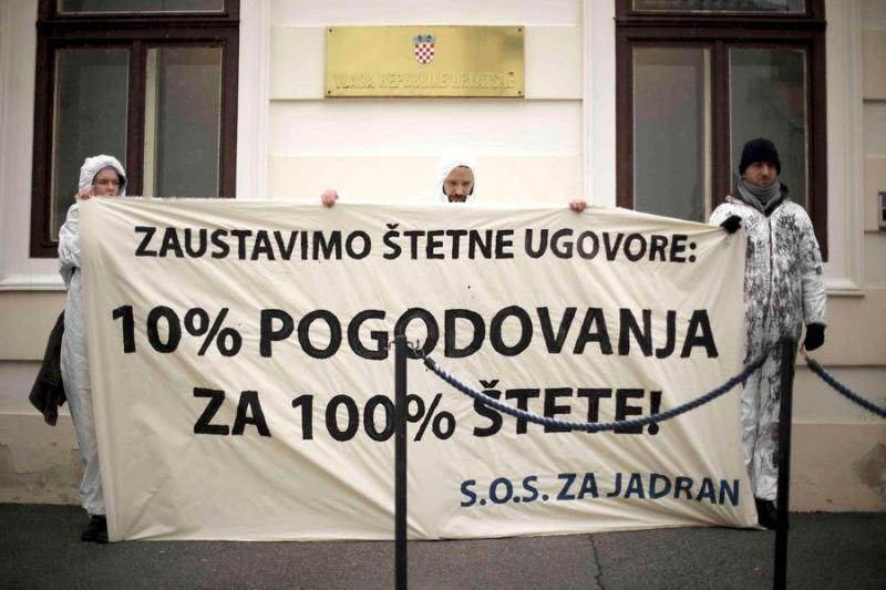 Prosvjed: Zahtijevamo temeljitu istragu i hitnu sjednicu Hrvatskog sabora o bušenju Jadrana