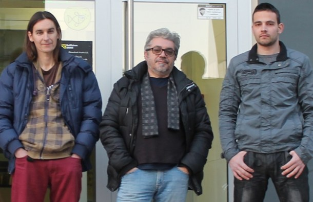 Mario Furčić na prosvjedu Udruge Franak (Foto H. pavić)