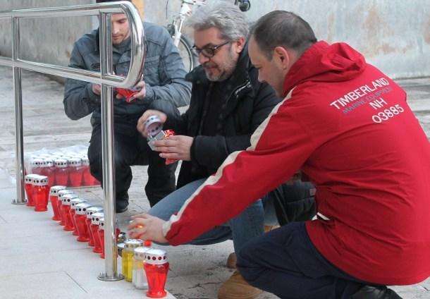 Mario Furčić na prosvjedu Udruge Franak (Foto: Tris/H. Pavić)