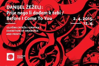 Plakat za izložbu Danijela Žeželja u Galeriji Karas