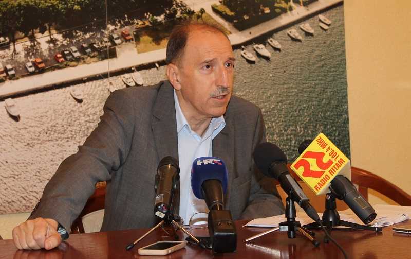 Draško Lambaša na današnjoj konferenciji za novinare (Foto: Tris/H. Pavić)