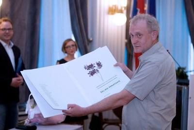 Novinar Željko Peratović na ovogodišnjoj dodjeli nagrade HND-a (Foto FB)