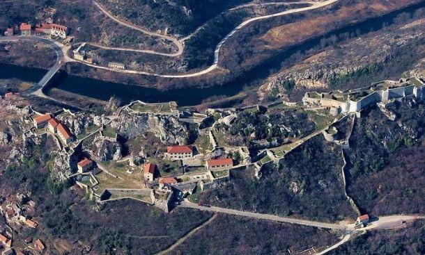 Kompleks kninske tvrđave iz zraka