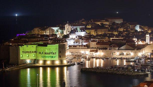 S akcije Greenpeacea protiv eksploatacije nafte u Jadranu (foto Greenpeace)