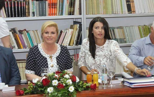 Predsjednica Kolinda Grabar Kitarović i gradonačelnica Josipa Rimac (Foto: Tris/H. Pavić)