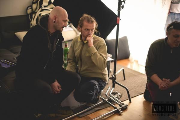Damir Urban i Anđelo Jurkas na setu filma 'Zbog tebe'