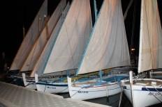 Bonaca je omogućila da se na privezanim brodovima razviju latinska jedra