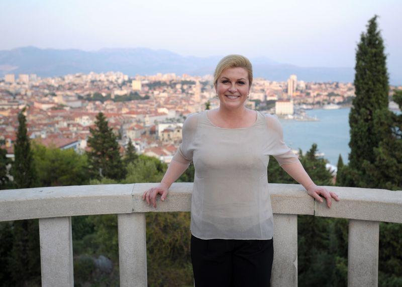 Predsjednica RH na marjanskoj vidilici - foto: www.predsjednica.hr