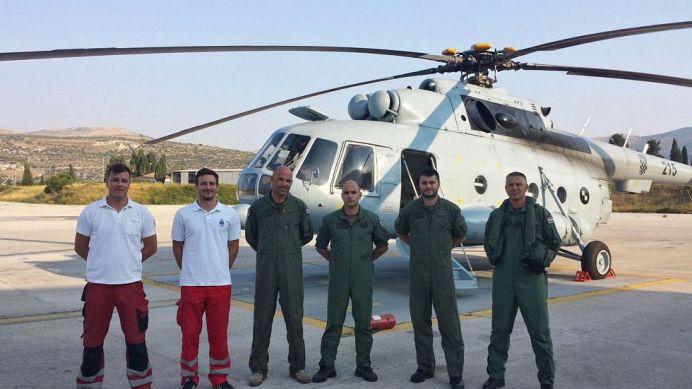 Izuzev roditelja, ova je družina zaslužna za rođenje dječaka u helikopteruFoto: HRZ i PZO/ G. Petrović