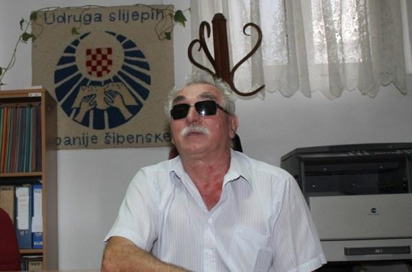 Joso Bagić, predsjednik Udruge slijepih županije Šibensko-kninske (Foto: Tris/H. Pavić