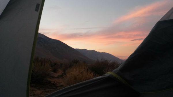 Predvečernji pogled iz šatora