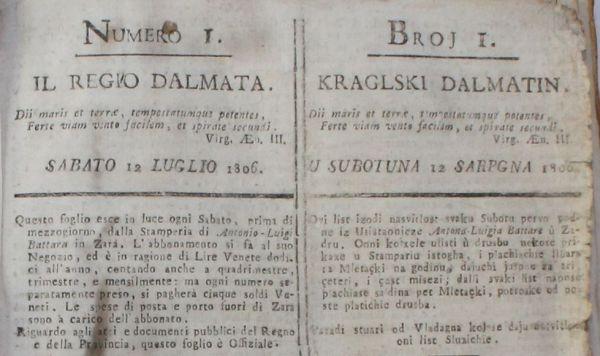 Uvodnik prvog broja Kraglskog Dalmatina (Foto Tris/H. Pavić)