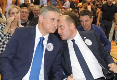 T. Karamarko  i M. Brkkić na predizbornom skupu HDZ-a u Šibeniku (Foto H. Pavić)