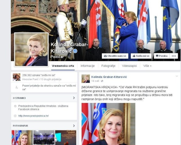 Objava KGK (printscreen Facebook)