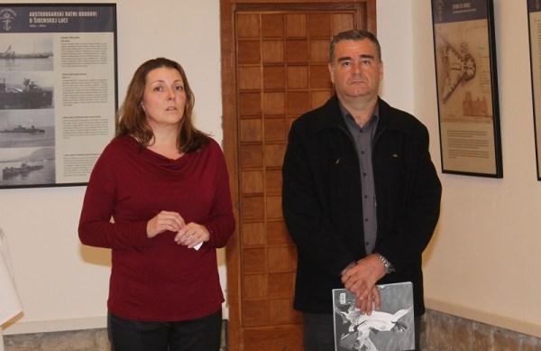 Ravnateljica Državnog arhica u Šibeniku Nataša Mučalo i arheolog Joško Zaninović (Foto: Tris/H: Pavić)
