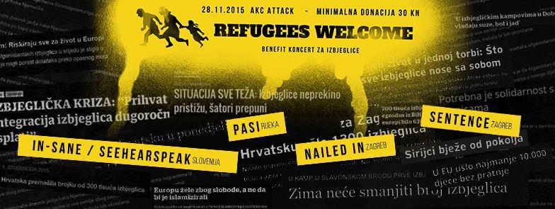 'Refugees Welcome': Hrvatski i slovenski pankeri u Zagrebu sviraju za izbjeglice
