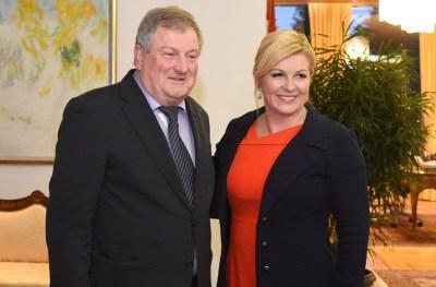 Je li Rašković prodao svoj glas za asfalt u Milovićima? - Na konzultacijama kod predsjednice Kolinde Grabar Kitarović (Foto Ured Predsjednice RH)