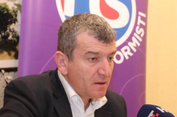 Petar Baranović na današnjoj konferenciji za novinare (Foto: Tris/H. Pavić)