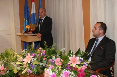 Župan Goran Pauk i načelnik Ivan Klarin na svečanoj sjednici (Foto: H. Pavić )