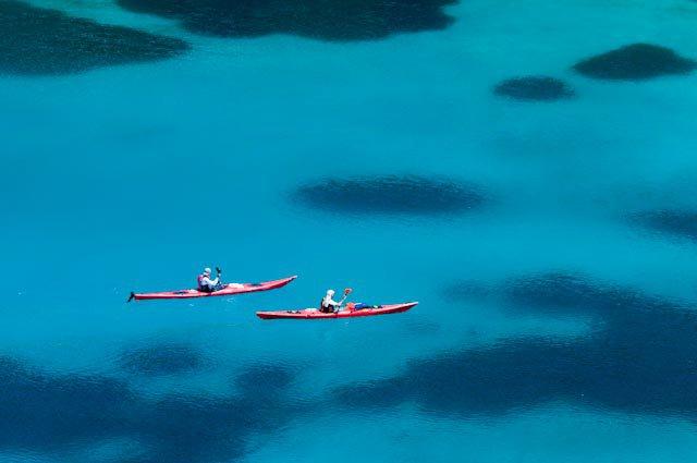 Kajakiranje na lijepom plavom Jadranu