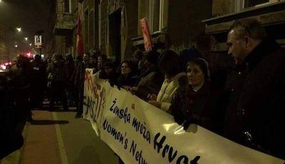 Večerašnji prosvjed (foto: Lupiga)
