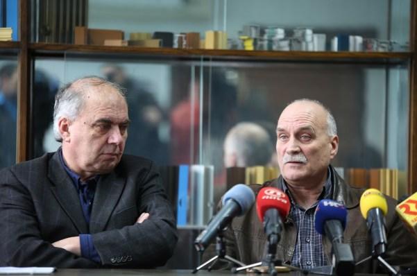 Konferencija za novinare HSM-a i HURS-a - Ozren Matijašević i Zdravko Burazer - TLM 230216 (Foto: Tris/H. Pavić)
