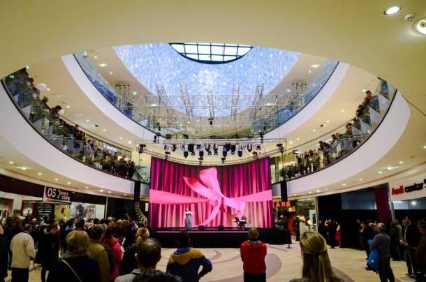 Otvaranje s 'roza fjokom' (foto press objava Mall of Split)