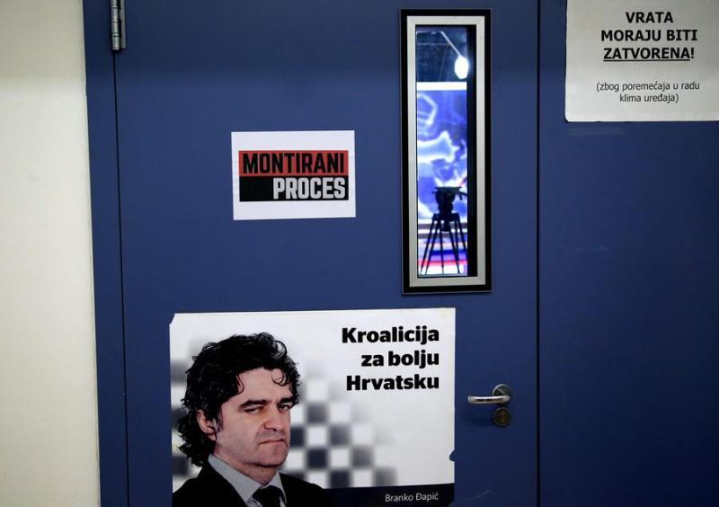 Ispred studija gdje se nekada snimao Montirani proces - foto HINA/ Lana SLIVAR DOMINIĆ