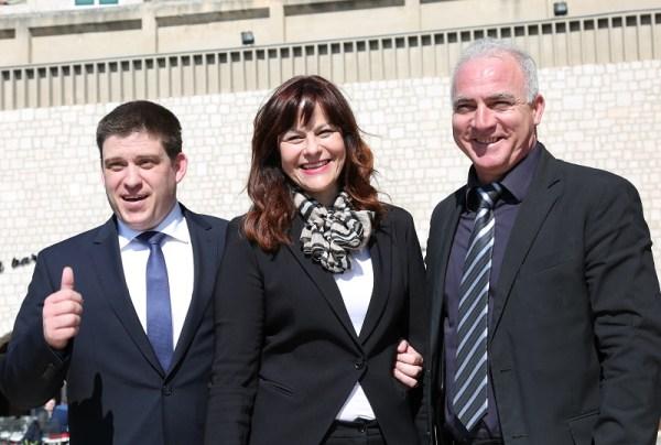 Ministar Oleg Butković s pomoćnicom Jadrankom Fržop i županom Goranom Paukom (Foto:Tris/H. Pavić)