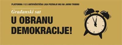 """Danas u Splitu, u Zlatnim vratima: """"Građanski sat – u obranu demokracije!"""""""