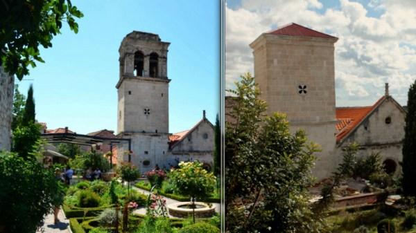 Zvonik uz crkvu sv. Lovre do nedavno i od danas (Foto: Jozica Krnić)