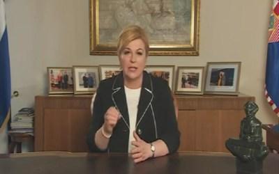 Obraćanje predsjednice (Printscreen YouTube)