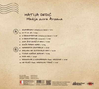'Matija svira Arsena' izlazi na LP-ju