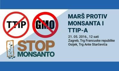 U podne 'Marš protiv Monsanta i TTIP-a' u Zagrebu, Osijeku, Splitu i još stotinama gradova