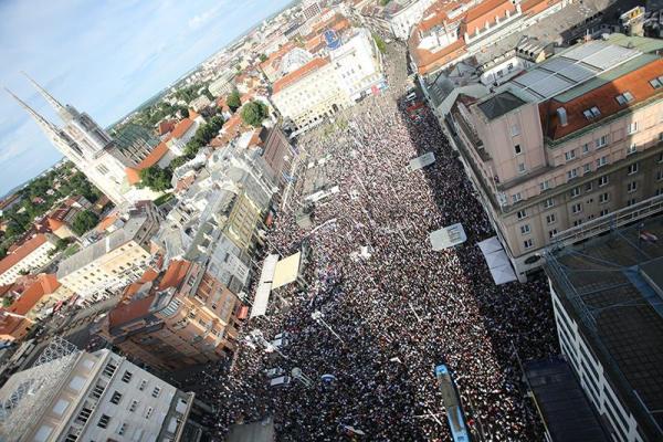 Prosvjed u Zagrebu (Foto: HINA)