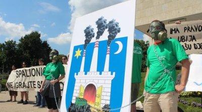 S nedavnog prosvjeda zbog planirane gradnje spalionice otpada