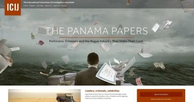 Panama papers - stranica ICIJ-a (printscreen)