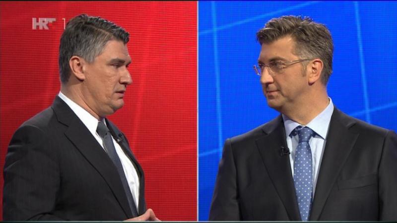 TV debata čelnika SDP-a i HDZ-a, Zorana Milanovića i Andreja Plenkovića: Da nije bilo Perkovića, bio bi to tek dosadni kviz