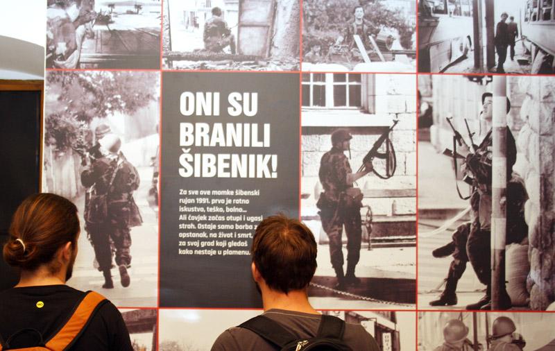 "Izložba za 25. obljetnicu spomendana Rujanskog rata "" 17 sati 57 minuta 16.rujna 1991./Foto:J.Krnić"