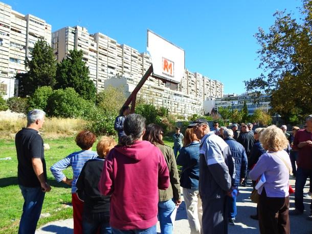 Prosvjed na Trsteniku (foto TRIS/G. Šimac)