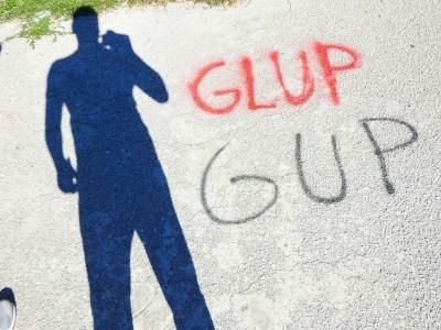 GUP GUP - natpis na igralištu (foto TRIS/G. Šimac)