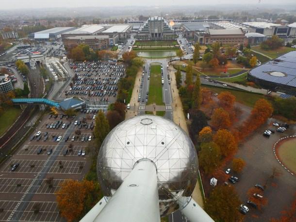Pogled s Atomiuiuma na kišni Bruxelles