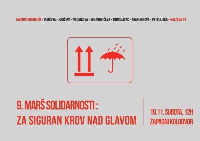 9. Marš solidarnosti: Za siguran krov nad glavom